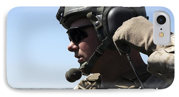 A Soldier Keeps In Radio Contact Phone Case by Stocktrek Images