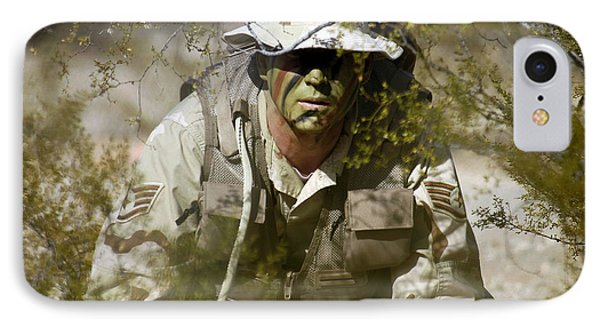 A Soldier Practices Evasion Maneuvers Phone Case by Stocktrek Images