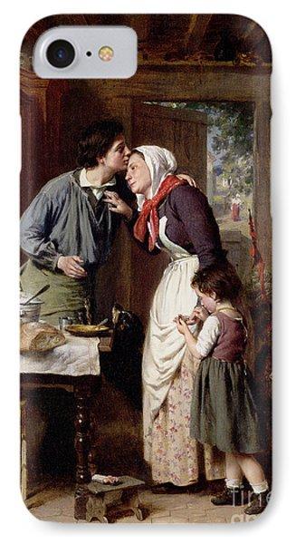 A Son's Devotion Phone Case by Pierre Jean Edmond Castan
