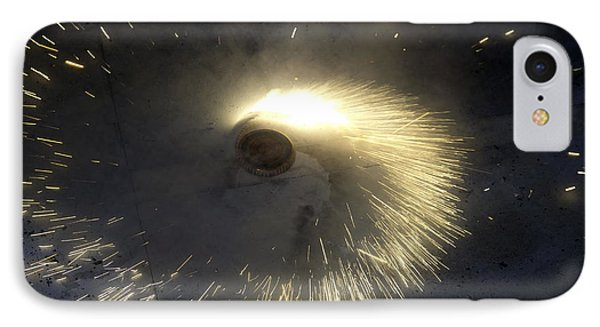 A Spinning Firecracker During Diwali Celebrations Phone Case by Ashish Agarwal