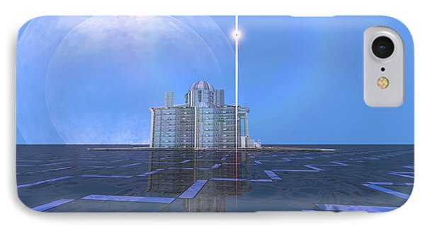 A Star Shines On Alien Architecture Phone Case by Corey Ford