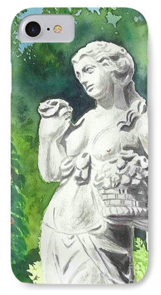 IPhone Case featuring the painting A Statue At The Wellers Carriage House -2 by Yoshiko Mishina