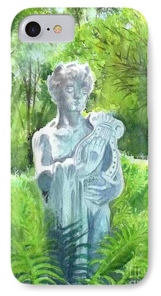 IPhone Case featuring the painting A Statue At The Wellers Carriage House -4 by Yoshiko Mishina
