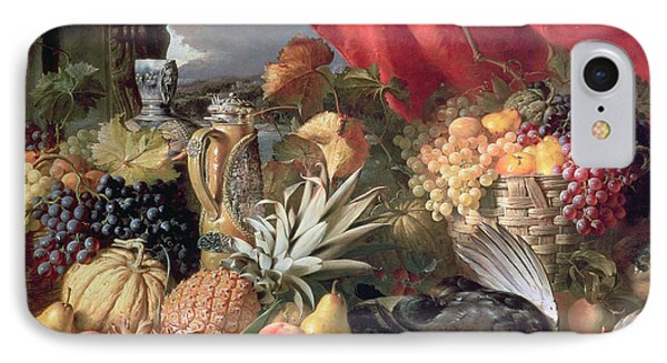 A Still Life Of Game Birds And Numerous Fruits Phone Case by William Duffield