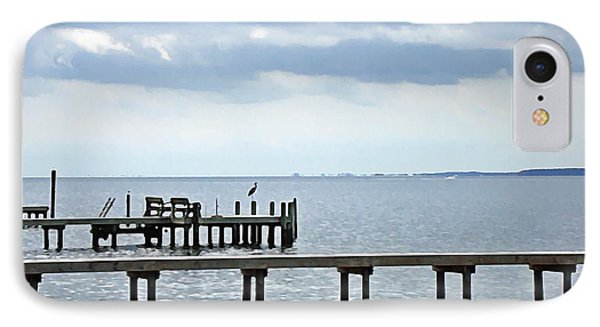 A Stormy Day On The Pamlico River IPhone Case
