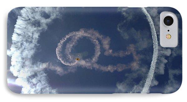 A Stunt Plane Flies Phone Case by Stocktrek Images