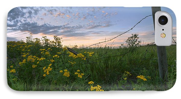A Summer Evening Sky With Yellow Tansy Phone Case by Dan Jurak