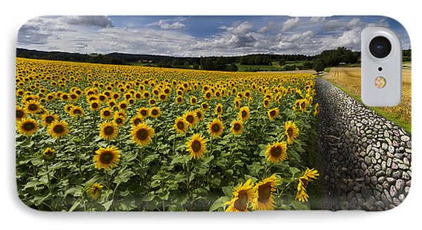 A Sunny Sunflower Day Phone Case by Debra and Dave Vanderlaan