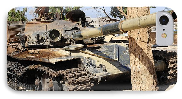 A T-72 Tank Destroyed By Nato Forces Phone Case by Andrew Chittock