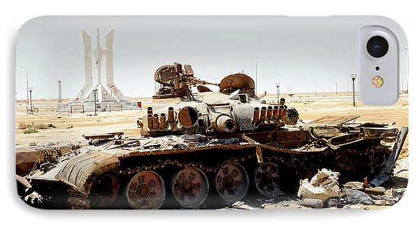 A T-80 Tank Destroyed By Nato Forces Phone Case by Andrew Chittock