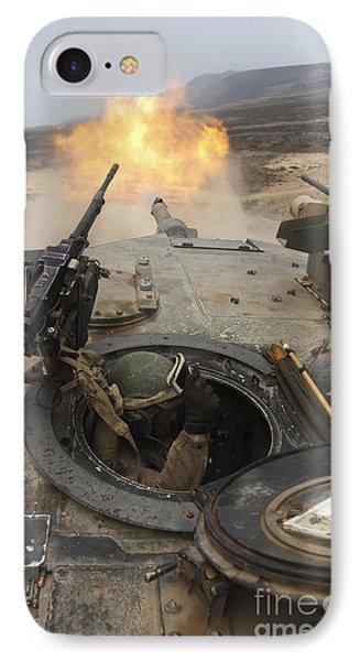 A Tank Crewman Braces Himself Phone Case by Stocktrek Images