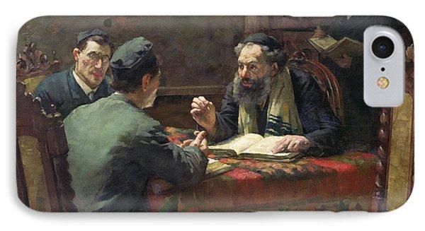 A Theological Debate Phone Case by Eduard Frankfort