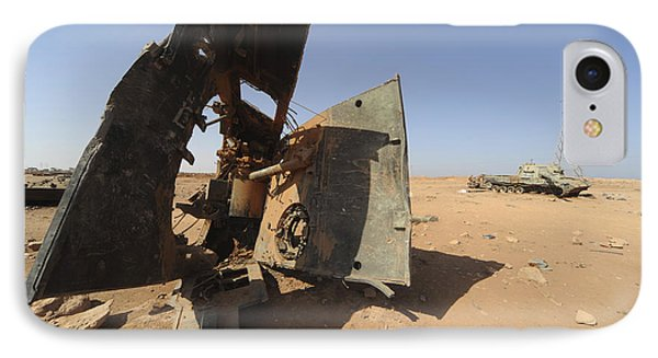 A Tracked Artillery Vehicle Destroyed Phone Case by Andrew Chittock