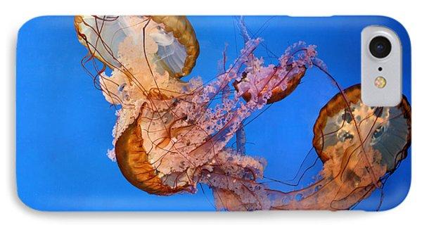 A Trio Of Jellyfish Phone Case by Kristin Elmquist