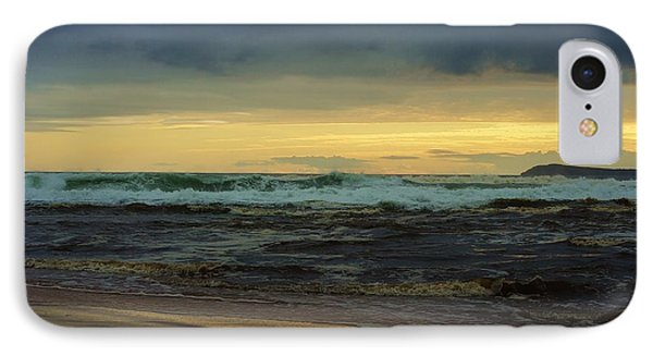 A Turbulent Sea On A Stormy Morning IPhone Case by Blair Stuart