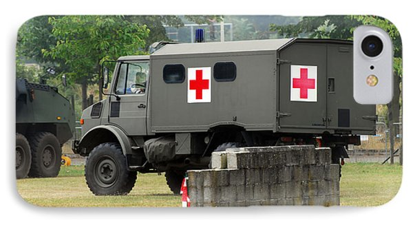 A Unimog In An Ambulance Version In Use Phone Case by Luc De Jaeger