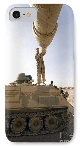 A Us Army Mechanic Uses A M113 Phone Case by Terry Moore
