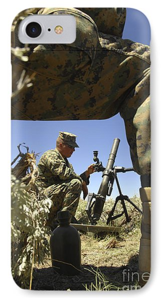 A U.s. Marine Mortarman Trains On An Phone Case by Stocktrek Images