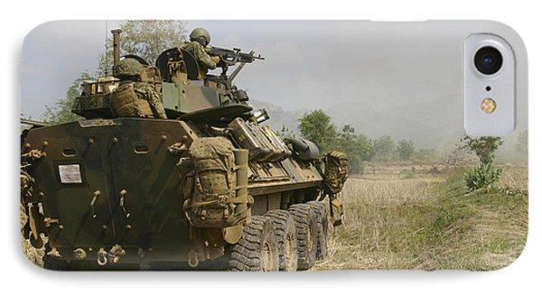 A U.s. Marine Uses An M-240b Machine Phone Case by Stocktrek Images