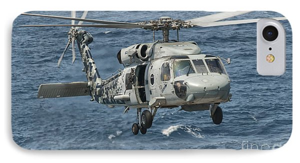 A Us Navy Sh-60f Seahawk Flying Phone Case by Giovanni Colla