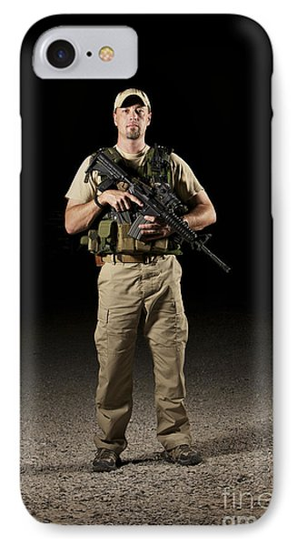 A U.s. Police Officer Contractor Phone Case by Terry Moore