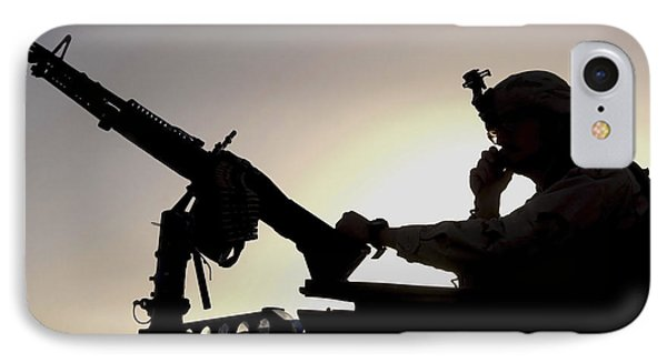 A U.s. Soldier Talks On A Hand Mike Phone Case by Stocktrek Images