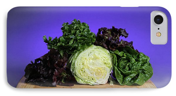 A Variety Of Lettuce Phone Case by Photo Researchers, Inc.