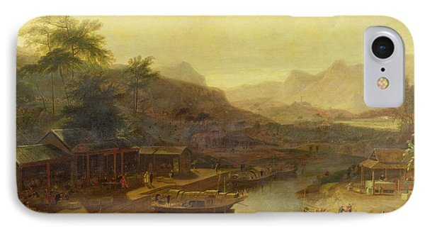 A View In China - Cultivating The Tea Plant Phone Case by William Daniell