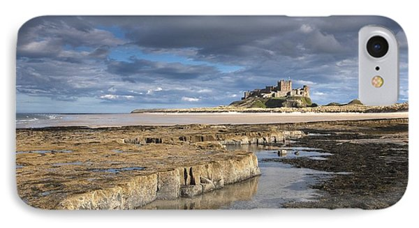 A View Of Bamburgh Castle Bamburgh Phone Case by John Short