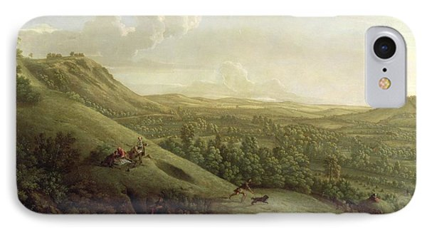 A View Of Boxhill - Surrey Phone Case by George Lambert