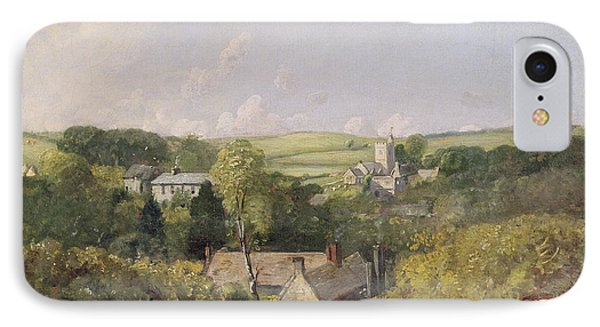 A View Of Osmington Village With The Church And Vicarage Phone Case by John Constable