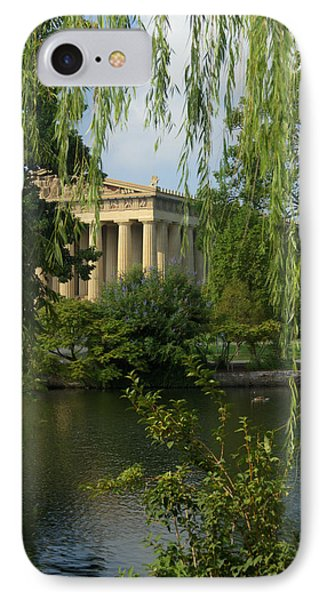 A View Of The Parthenon 3 IPhone Case by Douglas Barnett