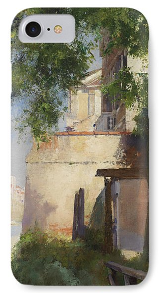 A View Of Venice From A Terrace IPhone Case by Henry Woods
