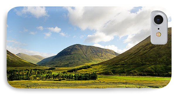A View Over Rannoch Moor Phone Case by Chris Thaxter
