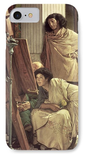 A Visit To The Studio Phone Case by Sir Lawrence Alma-Tadema