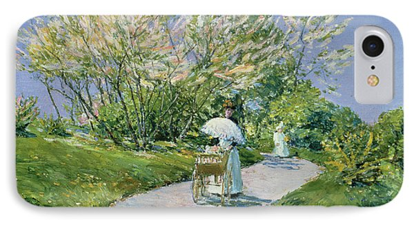 A Walk In The Park IPhone Case by Childe Hassam