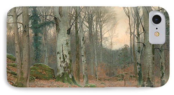 A Welsh Wood In Winter Phone Case by JT Watts