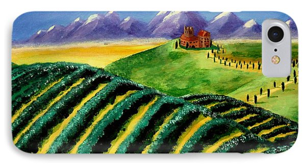 A Winery In Tuscany Phone Case by Spencer Hudon II