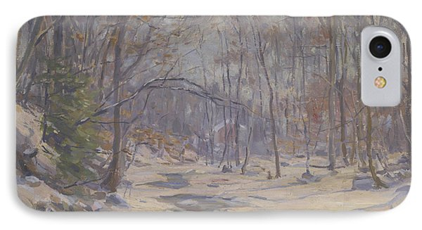 A Winter Morning  Phone Case by Frank Townsend Hutchens