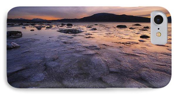 A Winter Sunset At Evenskjer In Troms IPhone Case by Arild Heitmann