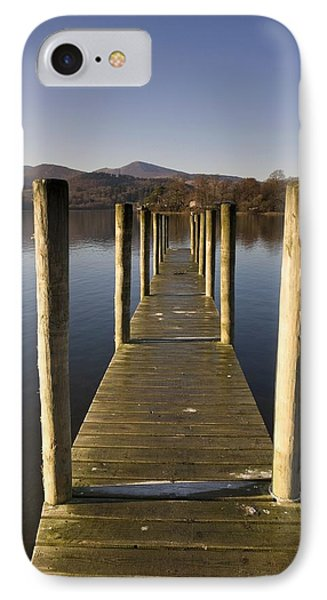 A Wooden Dock Going Into The Lake Phone Case by John Short