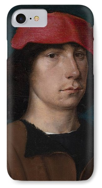 A Young Man In A Red Cap Phone Case by Michiel Sittow