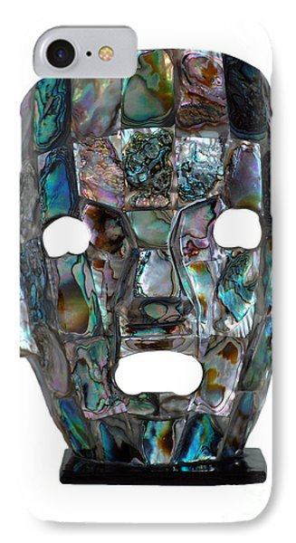 IPhone Case featuring the photograph Abalone Mayan Mask by Shawn O'Brien