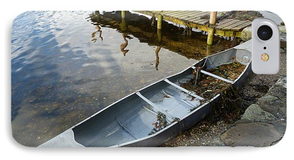 IPhone Case featuring the photograph Abandoned Canoe by Lynn Bolt
