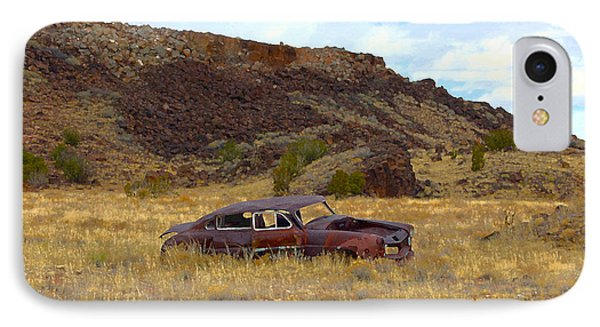 IPhone Case featuring the photograph Abandoned Car by Steve McKinzie