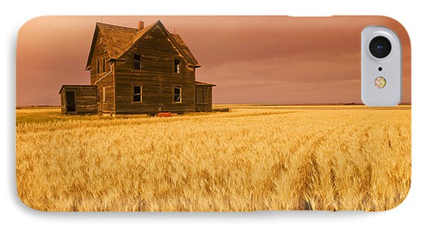 Abandoned Farm House, Wind-blown Durum Phone Case by Dave Reede