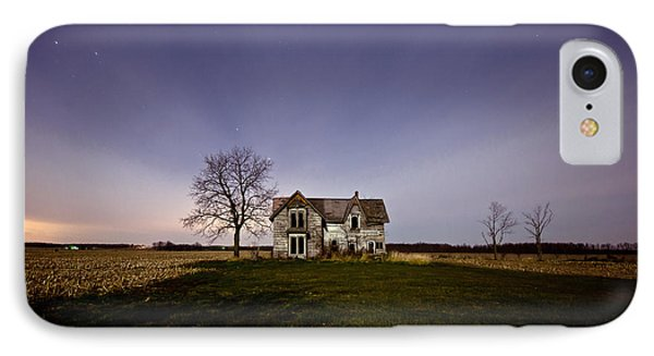 Abandoned Farmhouse At Night IPhone Case by Cale Best