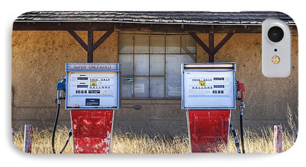 Abandoned Gas Pumps And Station IPhone Case by Dave & Les Jacobs
