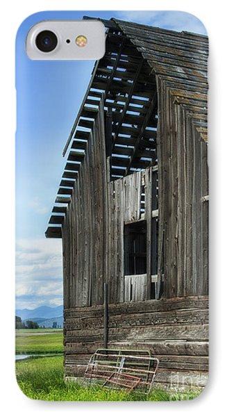 Abandoned Montana Barn Phone Case by Sandra Bronstein