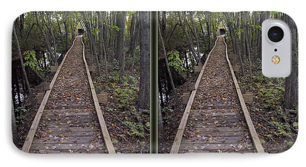 Abbott's Mill Trail - Gently Cross Your Eyes And Focus On The Middle Image IPhone Case
